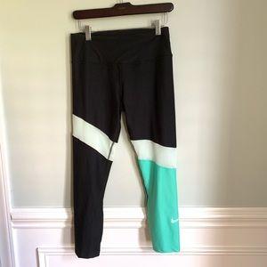 Nike Dri Fit Leggings Colorblock Mesh Sz Small